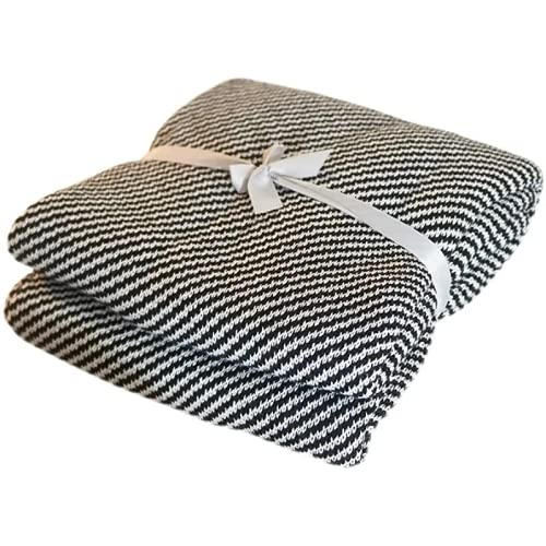 RHXJ Manta ligera de verano, manta de enfriamiento con peso para dormir caliente, edredón de plumas de verano, manta de hielo, rayas de cebra, 70 cm x 100 cm