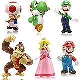 Miotlsy 6pcs / Set Super Mario Toys - Figuras de Mario y Luigi Figuras de acción de Yoshi y Mario Bros Figuras de Juguete de PVC de Mario