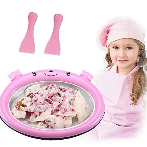 Máquina para Hacer Helados Bandeja de Hielo Frito Caseros Mini Instant Sweet Spot, Helado Artesanal Crema de Yogurt Helado Sorbete Gelato, No necesita electricidad