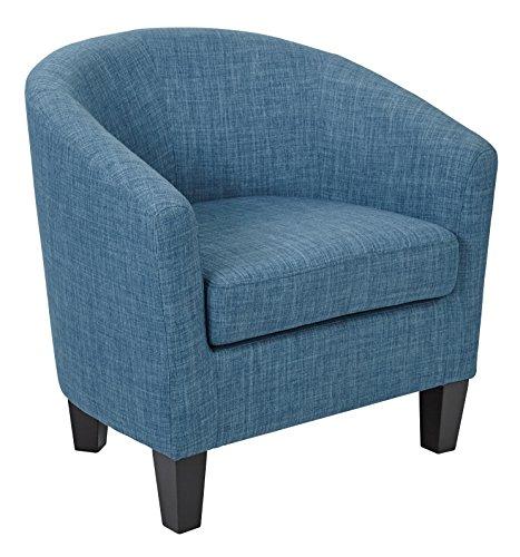 AVE SIX Ethan Tub Chair in Blue Denim Fabric