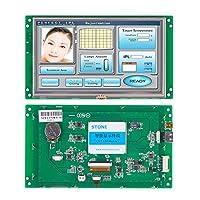 7インチシリアルLCDディスプレイモジュール プログラム付き + 機器コントロールパネル用タッチスクリーン(7インチ、WTVC070WT-01)