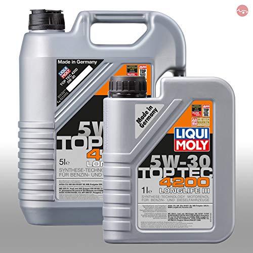 LIQUI MOLY TopTec 4200 5W-30 Motoröl 1x 1L 3706 & 1x 5L 3707