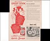 Heinz Condensed Cream Of Tomato Soup Food 1948 Vintage Antique Advertisement