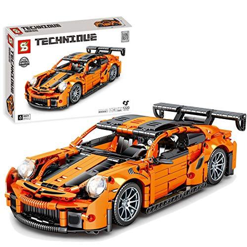 OATop 1220 Teile Technik Rennwagen Modell für Porsche 911, Sportwagen Bausteine Kompatibel mit Lego Technic