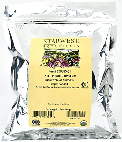 Starwest Botanicals Organic Kelp Powder, 1 Pound (Pack of 3)