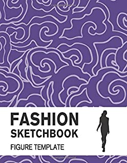 Fashion Sketchbook Figure Template: Easily Sketch Your Fashion Design with Large Figure Template