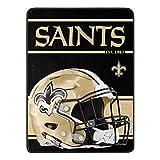 Northwest NFL New Orleans Saints 46x60 Micro Raschel Run Design RolledBlanket, Team Colors, One Size (1NFL059050021RET)