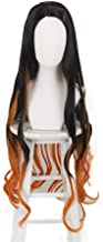 Xingwang Queen Anime Cosplay Wig 95cm Long Wavy Black Gradient Orange Wig Women Girls' Party Wigs