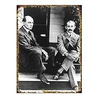 Wright Brothers Portrait メタルポスター壁画ショップ看板ショップ看板表示板金属板ブリキ看板情報防水装飾レストラン日本食料品店カフェ旅行用品誕生日新年クリスマスパーティーギフト