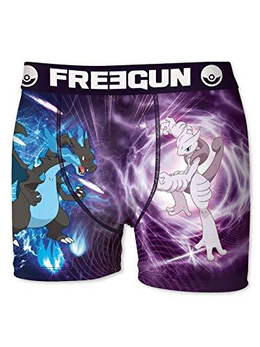 Freegun Purpur-blau Pokemon Battle Kinder Boxer-Shorts - 14-16 Jahre alt