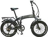 i-Bike Fold Pro ITA99, Bicicletta elettrica ripiegabile con ruote fat Unisex adulto, Nero,...