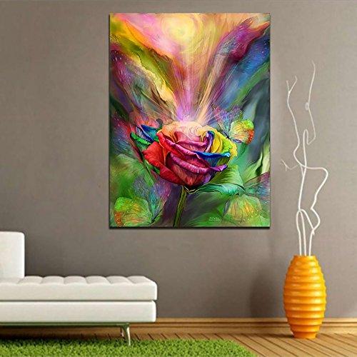 bdrsjdsb Ungerahmt Leinwand Malerei Wandkunst Schönheit Rose Home Wohnzimmer Dekor Poster Modernes Bild 30 * 40 cm