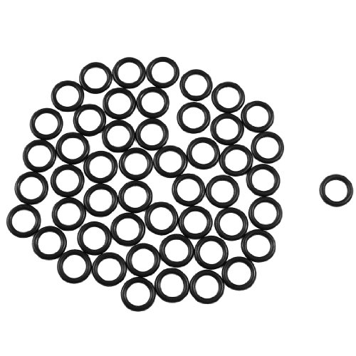 sourcingmap® 50pcs 12mmx8mmx2mm Automarke Abdichtung NBR O-Ringe Unterlegscheiben de