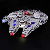 LIGHTAILING Conjunto de Luces (Star Wars Halcón Milenario Ultimate) Modelo de Construcción de Bloques - Kit de luz LED Compatible con Lego 75192 (NO Incluido en el Modelo)
