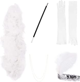 ShiyiUP 1920s Flapper Costume Accessories Men Women