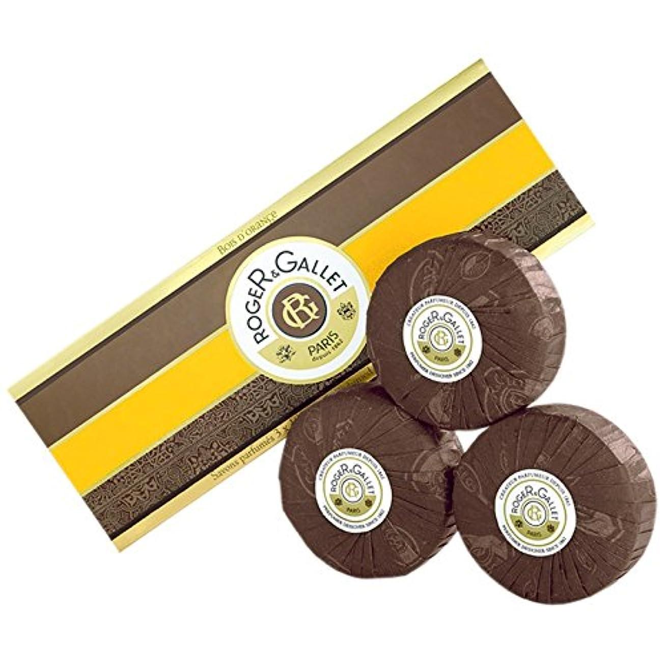 繊維ピンポイント警戒ロジャー&GalletのBoisのドールオレンジソープ3つのX 100グラム (Roger & Gallet) - Roger & Gallet Bois D'Orange Soap 3 x 100g [並行輸入品]