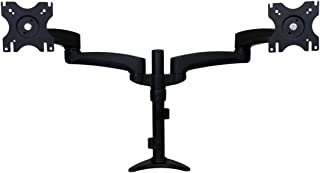 """StarTech.com Dual Monitor Stand – Grommet or Desk Mount – Monitors up to 24"""" – VESA Monitor Stand – Double Monitor Arm"""