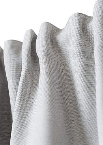 Rollmayer Vorhang mit Tunnelband MELO (C3 Grau, 140x150 BxH). Blickdicht Gardinen für Schlafzimmer, Kinderzimmer, Wohnzimmer