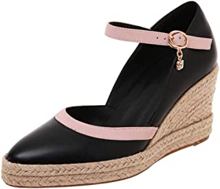 Zanpa Women Fashion Weaving Wedge High Heels Sandals