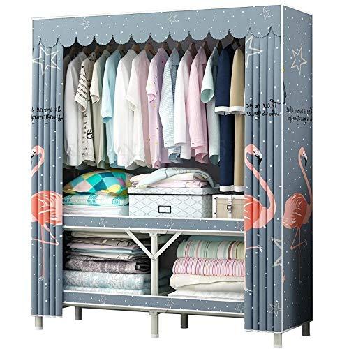 NXYJD Plegable de Tela Simple Armario Gabinete Gabinete del hogar Instalación Dormitorio Simple Moderna Alquiler de Habitaciones Asamblea