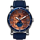 'The Waterman' Hawaiian Koa Wood Watch (47mm, Chrome & Silicone)