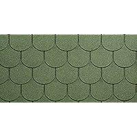 Eco Roof - Revestimiento para tejados, bituminoso, granallado, color verde