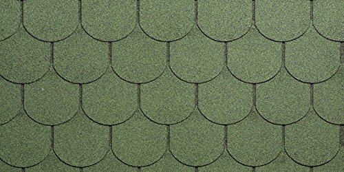 Tegola Canadese Spa 2113080092078 Tegola bituminosa granigliata Verde, Set di 16 Pezzi