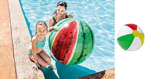 Bavaria Home Style Collection Jumbo XL Riesen Wasserball 107 cm Wassermelone Melone für Strand , Meer , See , Freibad und Garten Wasser Ball Strandball Wasserbälle großer Wasserball Aufblasbarer Ball