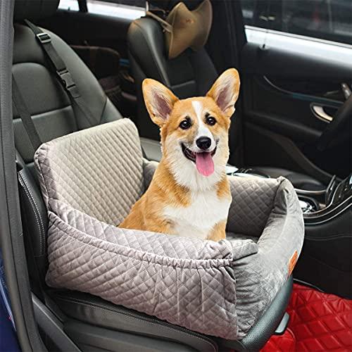 Asiento de coche para perros, asiento de seguridad para mascotas, apto para cualquier tipo de coche, tejido de alta calidad con bolsa de almacenamiento