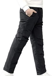 Adolescente niña niño Invierno Pantalones Acolchados Gruesos Pantalones cálidos Pantalones de esquí Ropa