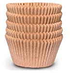 Cupcake Baking Cup Liner – Jumbo Size, Extra Thick, Unbleached Brown Disposable Cup Parchment Liner for Baking– Food Grade & No Smell – Muffin Paper Baking Cups by NextClimb (Jumbo, Pack of 100)