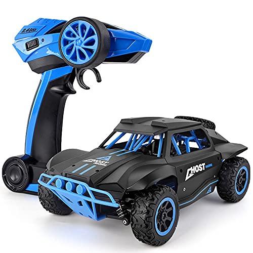 Nsddm Camión corta americano clásico, automóvil RC de 1/18 escala, vehículo todoterreno de 4WD, camión de escalada de la orugas, automóvil de control remoto de 2.4GHz, regalo de juguetes eléctricos pa