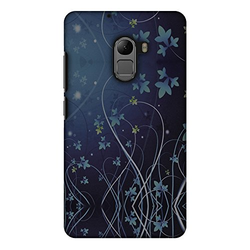 AMZER Slim Handcrafted Designer Printed Hard Shell Case Back Cover for Lenovo K4 Note A7010 - Midnight Lily