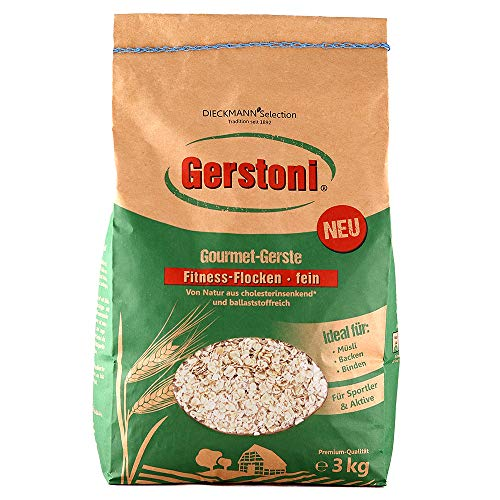 Gerstoni Flocons d'orge Fins de qualité supérieure avec Beta-Glucan pour Un Petit déjeuner sain, Une Cuisine et Une pâtisserie - 3 kg