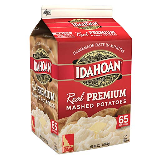 Idahoan Real Premium Mashed Potatoes, Made with Gluten-Free 100-Percent Real Idaho Potatoes,Value 2 Pack ( 3.25lb Carton Each ) (Best Potatoes Au Gratin Ina Garten)