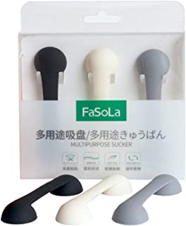 FASOLA Strong Paste Seamless Nail-Free Load-Bearing Suction Cup Creative Kitchen Wall Non-Stick Hook Silicone