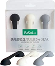 FASOLA Silicone Soft Cell Phone Grip Stand, Replace Phone Strap Finger Ring Holder and Cable Organizer, Can Works with Phone Cases (Light Color)