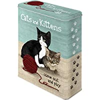 アニマル クラブ Cats and Kittens Jardin Francais 猫/缶ケース ブリキ缶