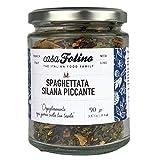 Spaghettata Silana Piccante 90 g in vasetto di vetro Riutilizzabile e Riciclabile. Preparato per pasta insaporito ai funghi porcini. Made in Italy - Spezie Casafolino