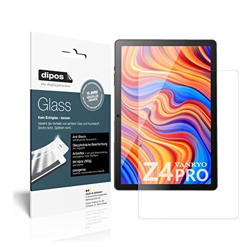 dipos I 2X Protector de Pantalla Mate Compatible con Vankyo MatrixPad Z4 Pro 10.1 Pulgada Vidrio Flexible Cristal Proteccion 9H