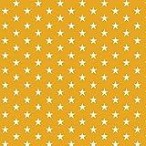 Baumwollstoff Sternchen Gelb Webware Meterware Popeline