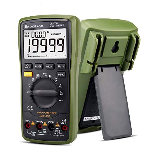 High Precision Digital Multimeter, 20000 Grafen Auto Range Relative Value Measurement True RMS, DC AC Resistance Capacitance Peak Hold NCV-Dioden-Tester