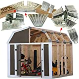 50% Structurally Stronger Truss Design Easy Shed Kit Builds 6'–14' Widths Any Length - Bonus Miter Template, Storage Barn Shed Garage Playhouse Easy Framing Kit - 2x4 Basic Barn Roof DIY EZ Framer Kit