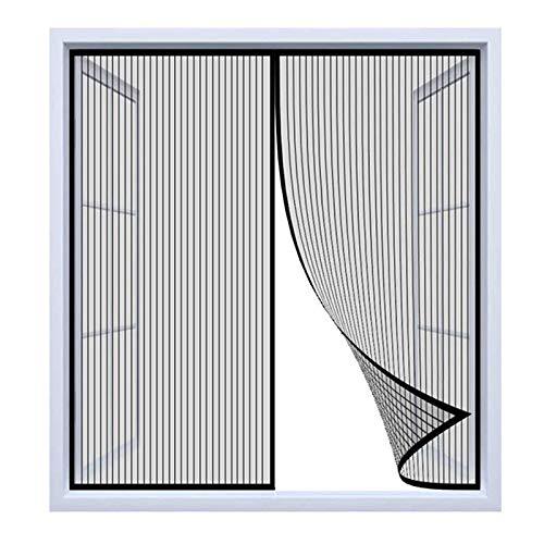 Magnet Fliegengitter Fenster Innen, Schwarz Anti-Moskito Fliegenvorhang, Ohne Bohren, Dachfenster Schiebefenster - (63x105inch)