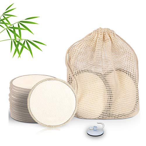 Bareko – Toallitas desmaquillantes lavables de bambú [Pack de 16] 100 % natural, reutilizable, biodegradable, sin poliéster, sin viscosa, sin terciopelo, ni plástico añadido.