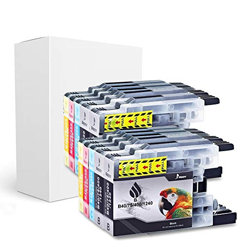 BIGGER Compatible Ink Cartridge Replacement for Brother LC75 Used with DCP-J525W DCP-J725DW DCP-J925DW 10Pack