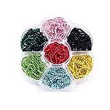 Cadena de diamantes de imitación de colores de 10 yardas con el mismo color inferior y piedras de cristal de diamantes de imitación de cristal que recorta la cadena de copa B1355-Ss6-Set 2-Ss8-10Yards
