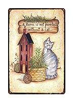 猫はいない メタルポスター壁画ショップ看板ショップ看板表示板金属板ブリキ看板情報防水装飾レストラン日本食料品店カフェ旅行用品誕生日新年クリスマスパーティーギフト