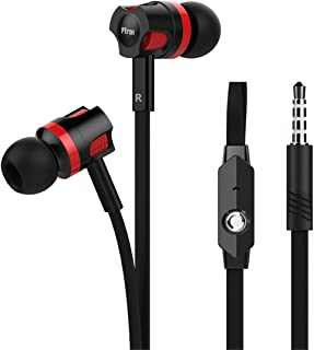 pTron HBE5 Raptor in-Ear Stereo Wired Headphones with Mic - (Black and Red)