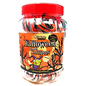 halloween lollipops - just arrived in only 50 jars available, order today so you don't miss out! - jar pack of 25 HALLOWEEN LOLLIPOPS – JUST ARRIVED IN ONLY 50 JARS AVAILABLE, ORDER TODAY SO YOU DON'T MISS OUT! – Jar Pack of 25 51XipT6lFYL